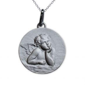 Médaille Ange réveur de Raphaël en argent massif
