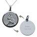 Médaille de Baptême St Christophe et Jésus gravée