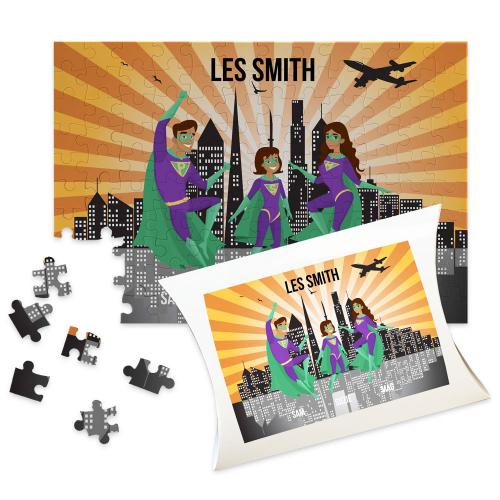puzzle personnalise super famille