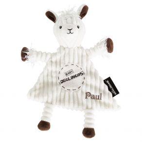 Doudou bébé lama Déglingos personnalisé prénom