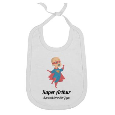 Bavoir personnalisé bébé super héro