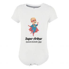 Body personnalisé bébé super héro