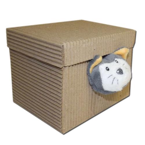 Doudou brodé chat botté