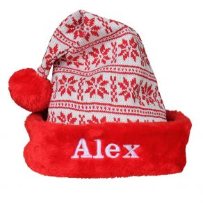 Bonnet de père Noël tricot
