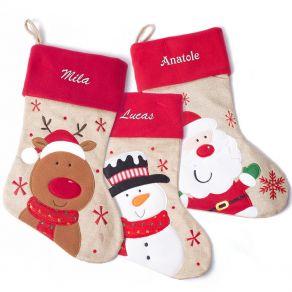 Chaussette de Noël enfant brodée