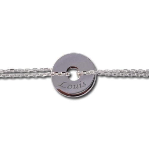 Bracelet chaine jeton ajouré