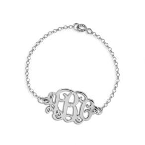 Bracelet initiales monogramme