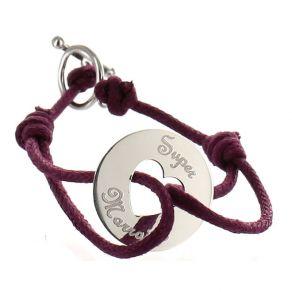Bracelet cible coeur personnalisé