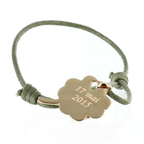 Bracelet trèfle personnalisé