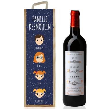 Caisse à vin Famille Heureuse