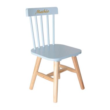 Chaise bleue pour enfant personnalisée