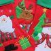Botte de Noël brodée avec un prénom
