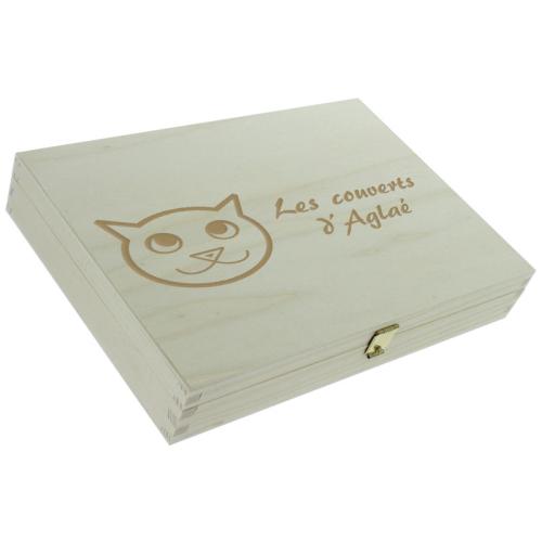 Couverts gravés motif petit chat pour enfant