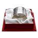 Rond de serviette Biarritz en métal argenté