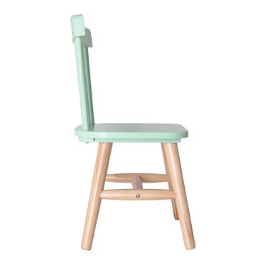 Chaise verte pour enfant personnalisée
