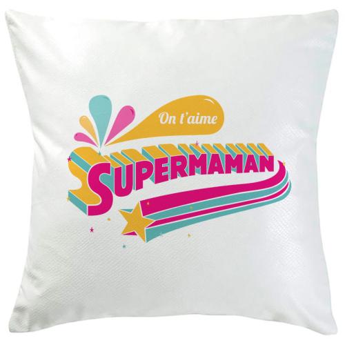 Coussin Super Maman personnalisé