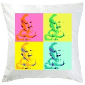 Coussin photo style Warhol
