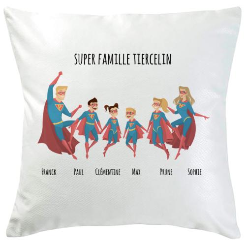 Coussin personnalisé super famille