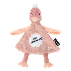 Doudou bébé autruche Déglingos personnalisé
