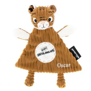 Doudou bébé tigre Déglingos brodé