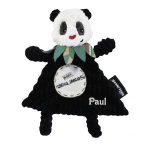 Doudou bébé panda Déglingos personnalisé