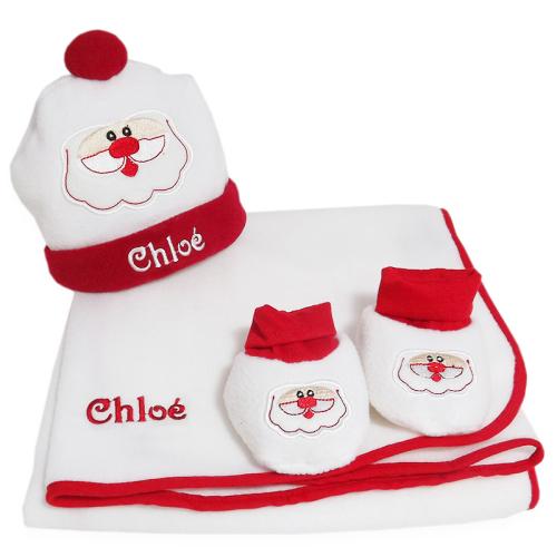 Parure de Noël brodée pour bébé
