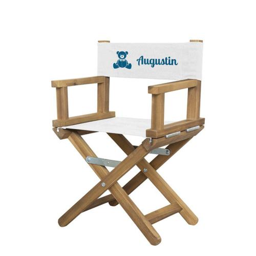 fauteuil de réalisateur bébé motif imprimé