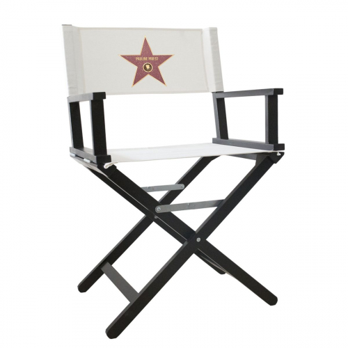 Fauteuil de Star du Walk of Fame d'Hollywood noir