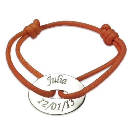 Bracelet cible ovale personnalisé