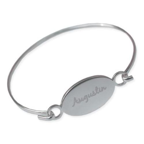 Bracelet personnalisé jonc ovale