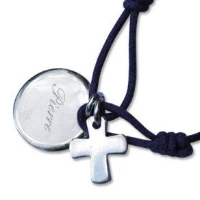 Médaille de baptême et sa croix