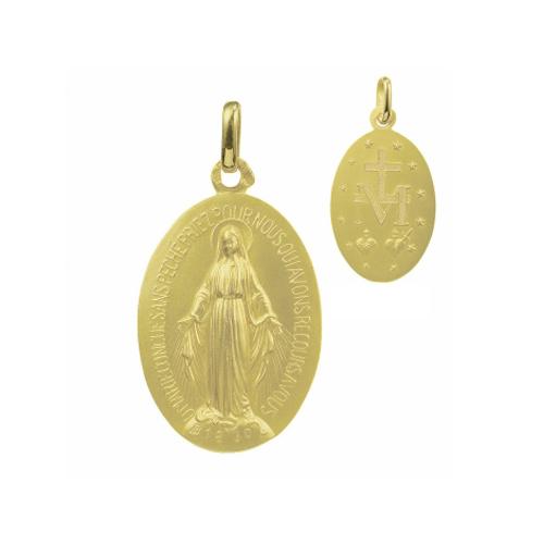 Médaille miraculeuse en or 750