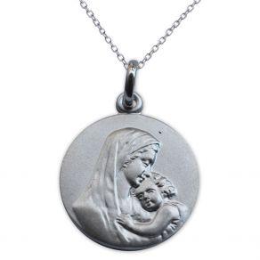 Médaille de baptême en argent personnalisée le baiser