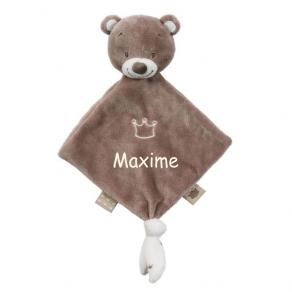 Mini doudou petit ours personnalisé