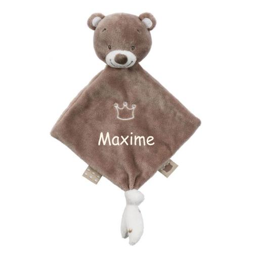 Mini doudou ours personnalisé