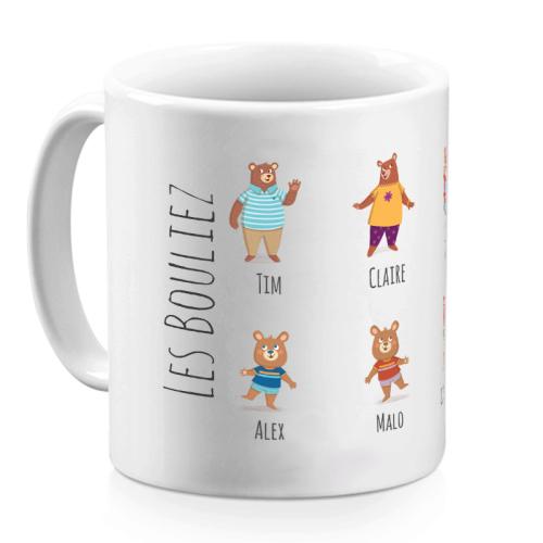 Mug personnalisé oursons