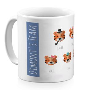 Mug personnalisé family jungle