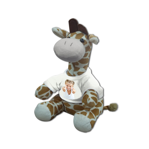 Peluche photo Girafe