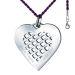 Pendentif coeur quadrillé personnalisé