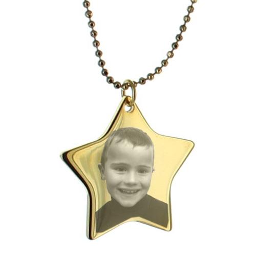 Pendentif étoile photo personnalisé