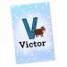 Plaque décorative initiale et animale