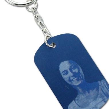 Porte-clés plaque bleue personnalisé