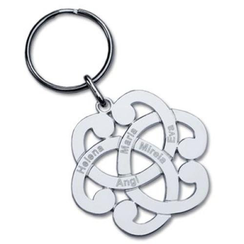 Porte-clés arabesque gravé
