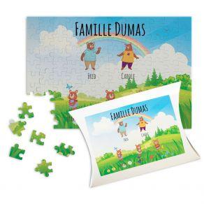Puzzle personnalisé petite famille d'ourse