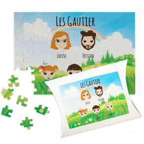 Puzzle Famille Heureuse personnalisé