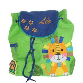 Sac à dos enfant Lion personnalisé