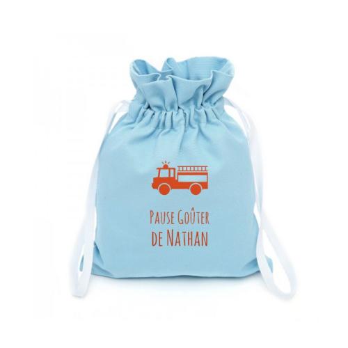 sac doudou personnalisé prénom pompier