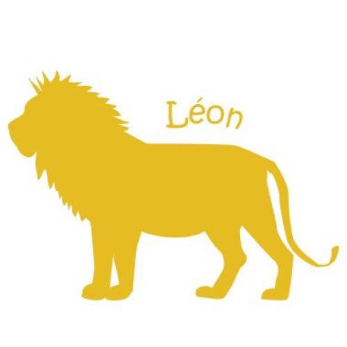 Stickers enfant lion (pas méchant)