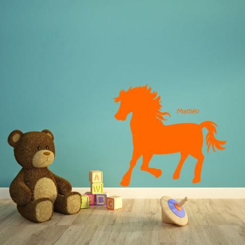 Stickers enfant joli poney