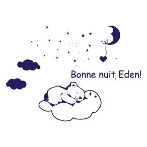Stickers bébé prénom bonne nuit